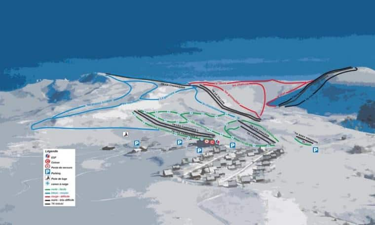 plan des pistes de chastreix sancy